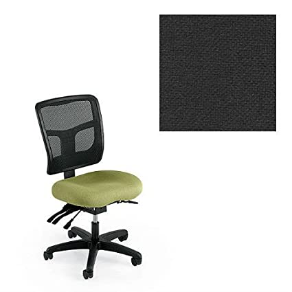 Office Master Yes Collection YS72 Ergonomic Task Chair   No Armrests    Black Mesh Back
