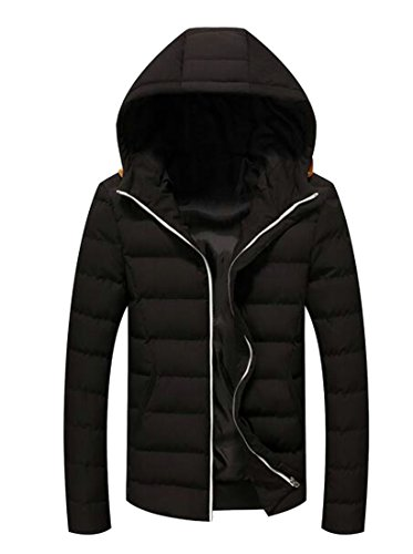 Color Contrast UK Black Hooded Camo Coat Jackets Mens Down Outdoors Casual today FZRwq1YY