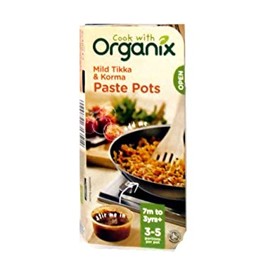 Organix Paste Pot Tikka And Korma 96g Amazoncouk Grocery