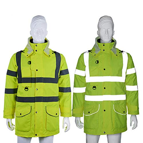 GSHWJS- trash can Reflective Cotton Coat High Speed Traffic Warning Duty Safety Jacket, Green Reflective Vests (Size : XXL) by GSHWJS- trash can (Image #5)