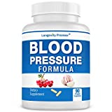 Longevity Blood Pressure Formula - Clinically formulated - With Hawthorn & 15+ top