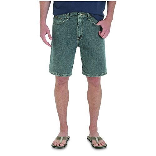 Wrangler Men's Big Rugged Wear Advanced Comfort Relaxed Fit Bleach Wash Short, Bleach Wash, 44 (Big And Tall Relaxed Fit Shorts)