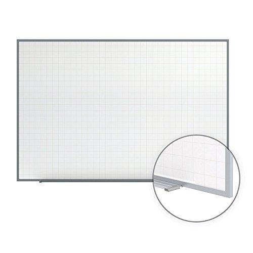 Ghent 48.5'' x 72.5'' Phantom Line Magnetic Whiteboard, Aluminum Frame, 4 Markers & Eraser (PLM3-46-0) by Ghent