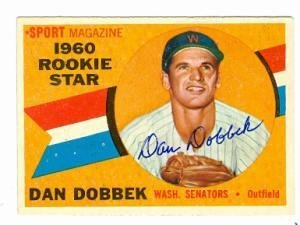 1959 Topps #124 Dan Dobbek Washington Senators RC Rookie Baseball Card