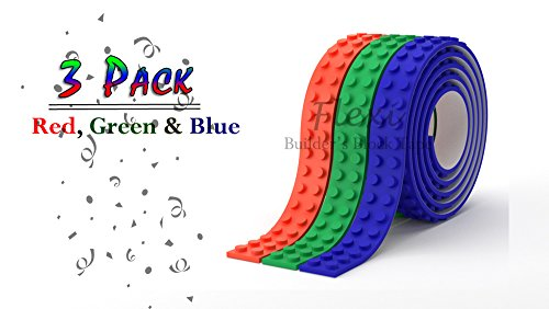 Lego Building block tape. Great for building blocks. Multiple colors. Self-adhesive, reusable, non-toxic. Kid friendly and safe.