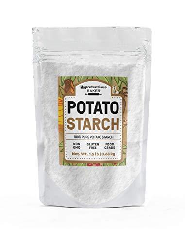 Potato Starch, 1.5 lbs. by Unpretentious Baker, Pure & Gluten-Free Alternative Thickener for Soups, Stews, Sauces & Gravies, Vegan & Paleo Friendly, Resealable Bag