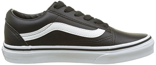 Vans Unisex-Kinder Old Skool Laufschuhe Schwarz (Black/true Whiteclassic Tumble)