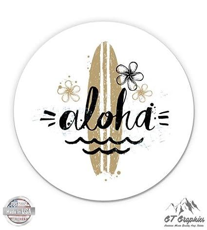 GT Graphics Aloha Surf Hawaii Cute - Vinyl Sticker Waterproof Decal