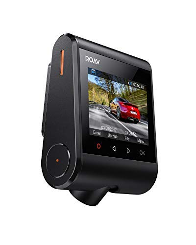 Roav DashCam S1, by Anker, Dash Cam, Dashboard Camera, Full HD 1080p Resolution, 60 fps, NightHawk Vision, Sony Starvis Sensor, Built-In GPS, Wi-Fi, Wide-Angle Lens, 2-Port Charger, 32GB microSD Card by ROAV