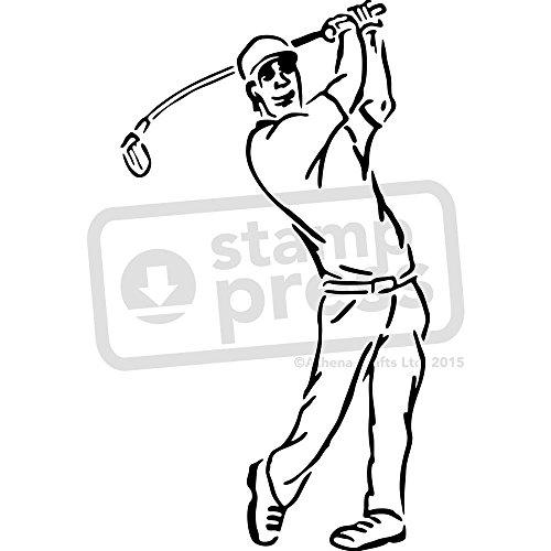 A4 'Golf Swing' Wall Stencil / Template (WS00001831) (Golf A4)