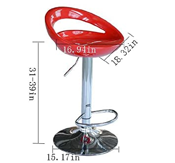 Frugah New Red Pub Bar Stools Modern Adjustment Swivel Counter Barstool Set of 2