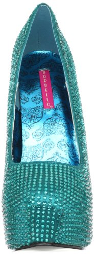 Bordello TEEZE-06R Turquoise Satin RS UK 8 (EU 41) Kr4ql
