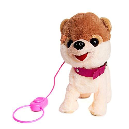 Joy Joy Toy Interactive Walking and Barking Toy Dog with Leash, Brush and Bowl