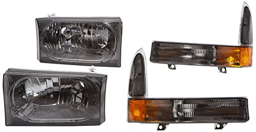 Xtune HD-JH-FF25099-AM-SM Ford Superduty (F350 Euro Headlights)