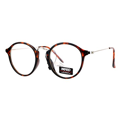 SA106 Mens Vintage Style Round Victorian Metal Bridge Clear Lens Eyeglasses - Victorian Sunglasses Style