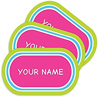 product image for Stick-N-Wear Personalized Custom Clothing Labels, No-Iron, Machine Washable, Magenta (Pack of 80)