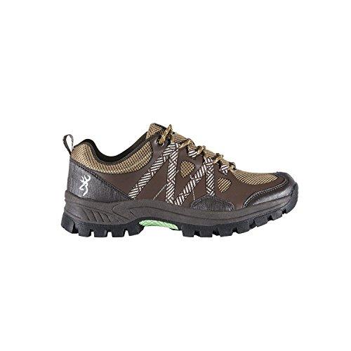 Bruinende Dames Glenwood Trail Schoenen, Bruin / Lichtgroen, Maat 10