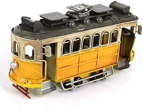 WYXIAN 手芸バスモデル、レトロアイアンアートバス、トラム、ヨーロッパスタイルのノスタルジックカー、アンティークユーズド加工