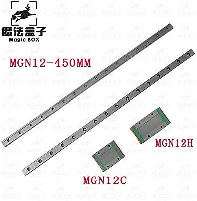 Impresora 3D - Piezas de impresora 3D 12 mm guía lineal MGN12 450 ...
