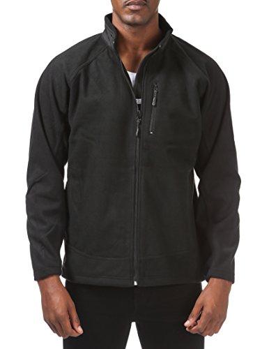 Pro Club Men's Big and Tall Micro Polar Softshell Jacket, 5X-Large, (Mens Club Jacket)