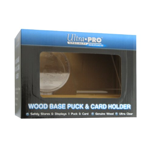 Ultra Pro Puck & Card Light Wood Holder (Acrylic Nhl Hockey Puck)