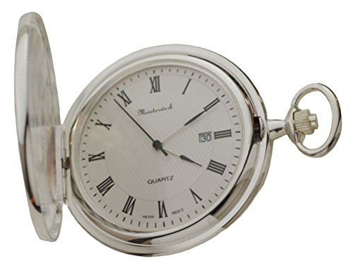 (Personalized Meisterwerk Sterling Silver Pocket Watch S1955)