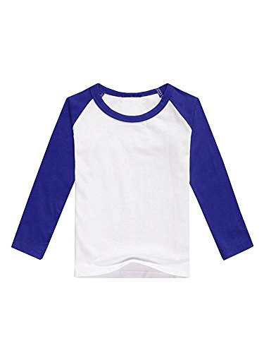 Raglan Crewneck Long Sleeve (Brilanter Boys Raglan Shirt Baseball Tee Long Sleeve Casual Girls T Shirts Jersey Plain Crewneck Tops)