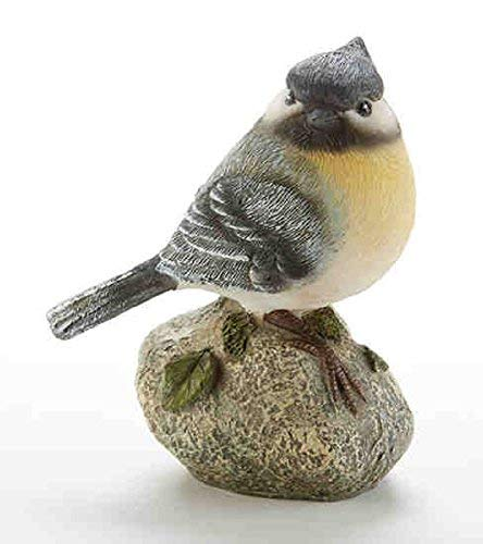 Delton Products 3.4 inches x 3.9 inches Resin Blue Bird on Rock Home Decor -