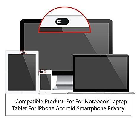 Cámara web visión Cover Cámara Protectora Protección para ordenador portátil, PC, Tablet, Smartphone, TV, Espionaje Protección Funda Accesorios Color ...
