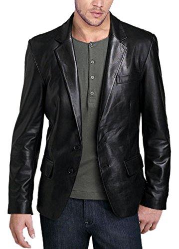 Leather N Leather Genuine Lambskin Leather Sport Blazer Jacket Sport Coat (XXXL48) Nappa Leather Blazer