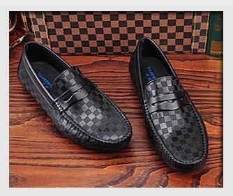 Happyshop (tm) 2 Kleuren Ons Maat 5-11 3 Reliëf Leer Casual Rijdende Mocassin Loafer Heren Flats Schoenen Zwart (stijl A)