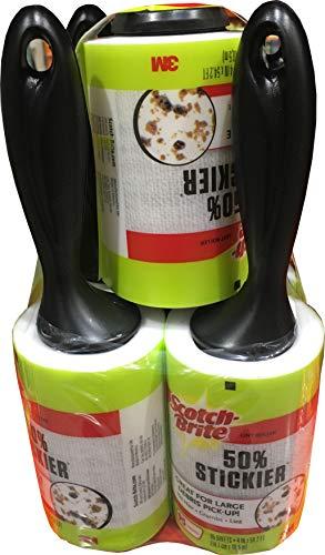 Scotch Brite 3M Lint Roller 50 % Sticker 5 Pk/95 Sheets (Net Sheet 475 ), 475Count