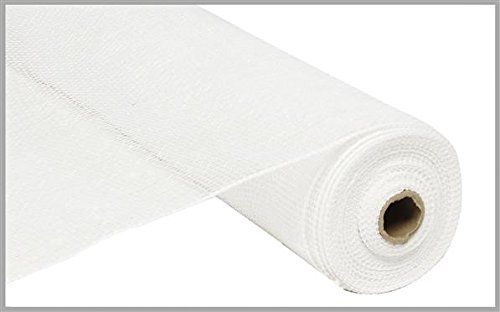 10 inch x 30 feet Deco Poly Mesh Ribbon - Value Mesh (White, White Film)
