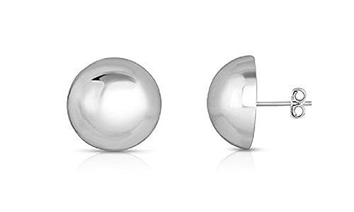 90c5d93e4b607 Sterling Silver Ball Stud Earrings in 4mm, 6mm, 8mm, 10mm, 12mm and 14mm in  Silver, Gold or Rose Gold