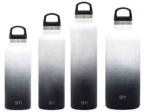 Simple Modern 32oz Ascent Water Bottle - Stainless Steel Hydro Swell Flask w/Handle Lid - Metal Double Wall Vacuum Insulated Reusable Tumbler Aluminum 1 Liter Cold Leak Proof - Tuxedo -  ASCF-32-TX