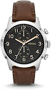 Fossil Townsman Watch for Men - Analog Leather Band - FS4873