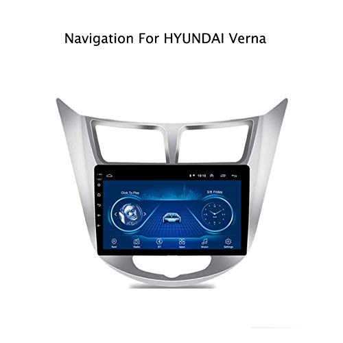 Hahaiyu in Dash Car Stereo Nacigation 9 Inch Android 7.1 for Hyundai Verna 2012-2016,GPS Radio Stereo 2.5D Curved Edge Touch Screen,WiFi,Bluetooth,Reversing