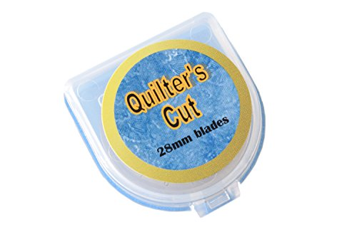 Quilter's Cut 28mm Rotary Blades, 12 Pack, Fits Olfa, Fiskars, Martelli, & Truecut by Quilter's Cut