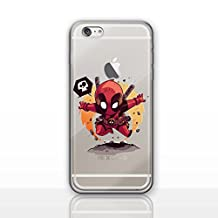 """iPhone 6/6s (4.7"""") Deadpool Silicone Phone Case / Gel Cover for Apple iPhone 6S 6 (4.7"""") / Screen Protector & Cloth / iCHOOSE / From The Grave"""