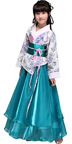 BlcSwan Girls Chinese Ancient Stage Costumes Dress National Halloween Cosplay