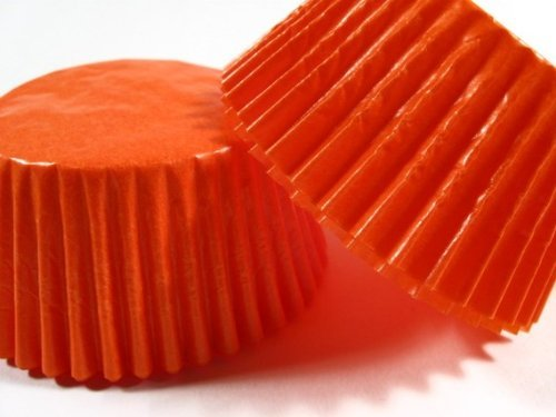 Solid Orange Cupcake Muffin Glassine Baking Cups Liners 500ct
