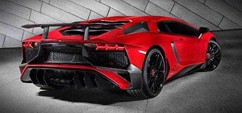 LAMINATED 51x24 Poster: Luxury Sports Car Lamborghini Automobile Auto Rear Modern Italian Speed Style Performance Transportation Vehicle