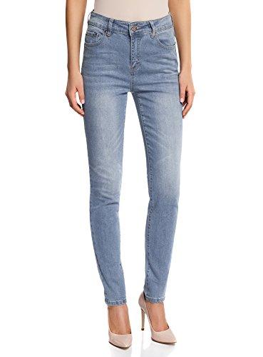 Donna a Slim Fit Jeans Ultra Alta 7000w Vita oodji Blu B5wqpvx15