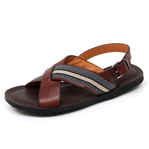 C9986 sandalo uomo CAR SHOE scarpa intrecciato marrone shoe man Marrone