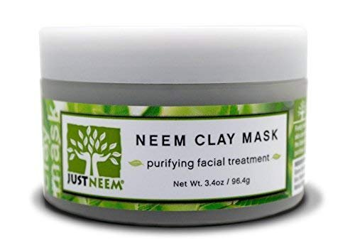 French Clay Face Mask - Neem - Best for Acne, Oily Skin, Blackheads, All Skin Types - Soothing, Purifying & Hydrating - Natural - 3.4 (Neem Face Pack)