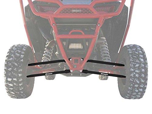(SuperATV Stright Boxed Rear Radius Arms/Rods for Polaris RZR XP Turbo/XP 4 Turbo (18mm) - 4X Stronger Than Stock! - Black)