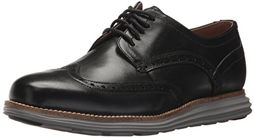 Cole Haan Men's Original Grand Shortwing Oxford Shoe, black leather/ironstone, 11 W US