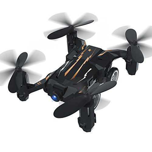 Mini Drone, HAOXIN HX132 RC Pocket Quadcopter for Kids & Beginners 2.4G 6 Axis Flying Car with Switchable Controller LED Light Headless Mode (Black)