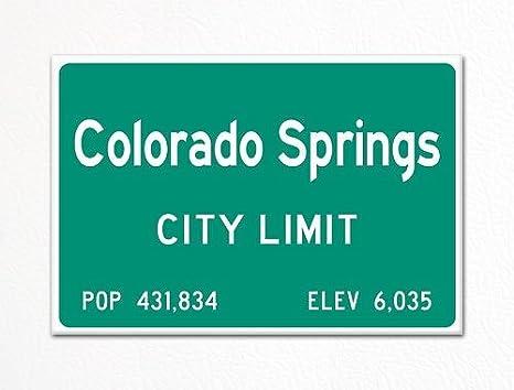 Amazon.com: Colorado Springs City límite Sign souvenir Imán ...