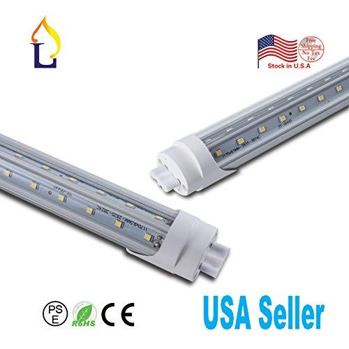 500 Pack T8 Led 5 Foot Tube Light Daylight White High Brightness T8 5FT 48W G13 Base V-Shaped Tube Lighting Under Cabinet Lamp(Daylight White(5000-5500k), Clear Cover)